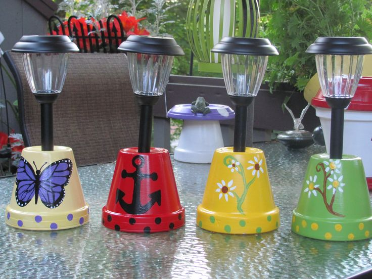 DIY FLOWER POT SOLAR LIGHTS2
