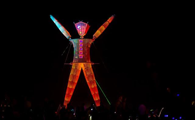 Burning Man Lit Up