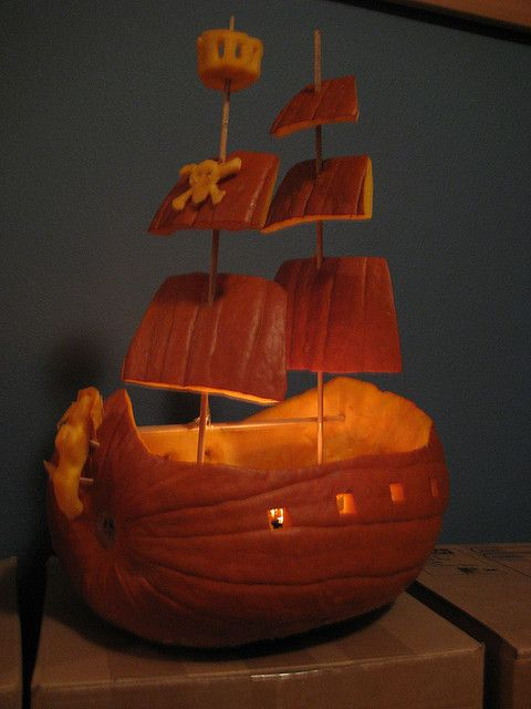 Pumpkin Pirate Ship