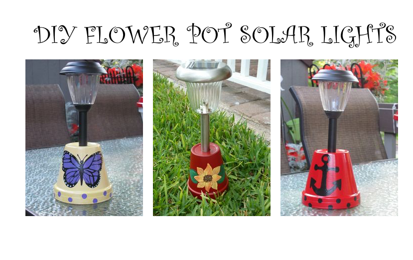 DIY FLOWER POT SOLAR LIGHTS